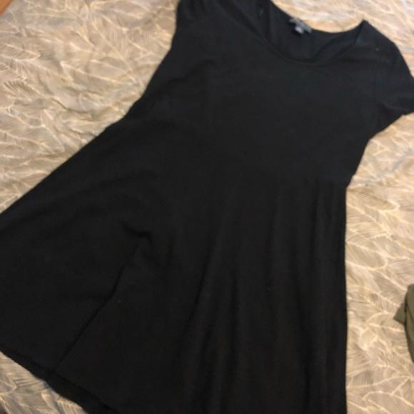Black plus size babydoll dress